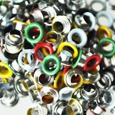 200 Metall bunte runde �–sen/Eyelets/Nieten gemischte Farben 9mm GY
