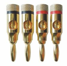 4PCS Musical Audio Speaker Cable Wire Connector 4mm Banana Plug