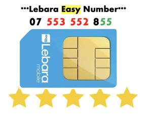 GOLD VIP Lebara Sim Card PayG Fancy EASY Good Rare Fancy NUMBER '07 553 552 855'