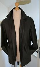 Milestone Black Soft Lambs Leather Coat/Jacket Mans Mens Size L Very Smart!