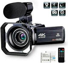 4K 1080P 48MP WiFi Digital Video Camera 16X Zoom DV Recorder Microphone Remot