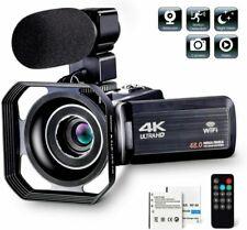 4K 1080P 48MP WiFi Digital Video Camera 16X Zoom DV Recorder Microphone Remot