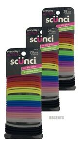 3 Pack Scunci Everyday And Active No Slip Grip Strong Hold 28 Count Of Elastics