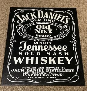 """Jack Daniels NO 7 Tennessee Whiskey Sour Mash Tin Sign Metal 12x16"""""""