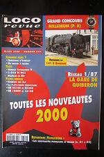 MODELISME FERROVIAIRE TRAIN MAGAZINE LOCO REVUE N° 634 de 2000