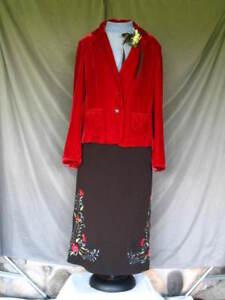 Victorian Costume Dress Edwardian 1900s Style Walking Suit 3 pc 1920's Gatsby