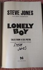 Steve Jones SIGNED Copy of Lonely Boy: Tales of a Sex Pistol   autographed