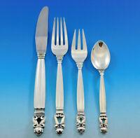 Acorn by Georg Jensen Sterling Silver Flatware Service 12 Dinner Set 48 Pieces