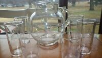 Stardust Fostoria Pitcher set Pitcher 6 12oz 2 8 oz MINT RARE set EUC 7 piece