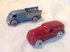 Vintage Pair Diecast Barclay Slush Express Delivery Trucks