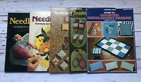 Vintage Lot of 5 Needlepoint Books 1970's Housewife Crafts