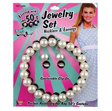 Collier de perles & earrings set années 1950 style femmes accessoire