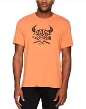 Life Is Good. Mens XL Smooth Tee Dad's Famous BBQ - Sandy Orange