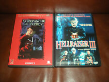 LOT 2 DVD FILMS HORREUR : LA REVANCHE DE FREDDY + HELLRAISER III