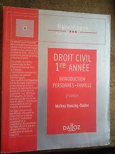 Droit civil 1re année introduction personnes famille  Mélina Douchy-Oudot