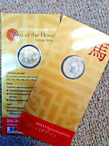 2014 Lunar Series RAM $1 UNC  - Year of the Horse