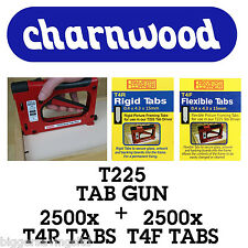 CHARNWOOD TAB DRIVER T225 C/W PACK OF 2500 T4F + 2500 T4R TABS