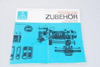 Pentacon Prospekt Zubehör echter einäugiger Spiegelreflexkameras / ZA015