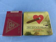 Ancien 2 paquets cigares DIE LEICHTE BRUNS Zigarren  WW2