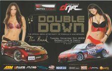 "2009 ""Double Down"" Formula Drift Grid Girls SEMA After Party handout"