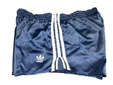 Adidas vintage Sprinter Shorts Gr. 7 L Sporthose 80s shiny Running blau FS4