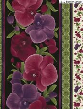 Orchid Cotton Quilt fabric Timeless Treasures 3210 Border Stripe