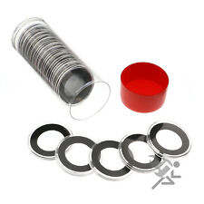 1/2oz Gold Eagle Coin Holders, Red Capsule Tube & 20 Air-Tite 27mm Black Rings