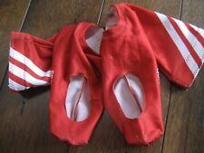 Adidas Red Cycling Booties/OverShoes Lycra Spandex only no Roubaix Lining Large