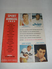 1953 SPORT ANNUAL-MARCIANO,MATHIAS,OLYMPICS AND REVIEW OF YEAR IN SPORTS