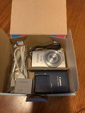 Canon PowerShot ELPH 330 HS / IXUS 255 HS 12.1MP Digital Camera - Silver W/ Case