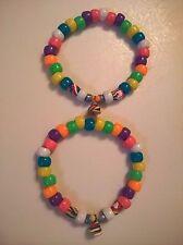 Lot 2 unicorn poop best friend bead handmade edc jewelry bracelet rave kandi