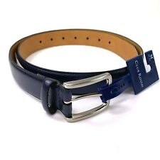 Club Room Mens Textured Casual Harness Buckle Belt Blue M 34-36