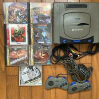 Sega Saturn game console bundle + 2 controllers + 7 games set SS from Japan
