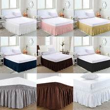 Elastic Bed Skirt 38cm Height Bedspread Dust Ruffles Bed Cover Twin Full Queen