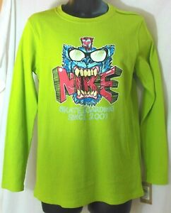Nike Skateboard Thermal Shirt XL Lime Green Long Sleeve NWT MSRP $30