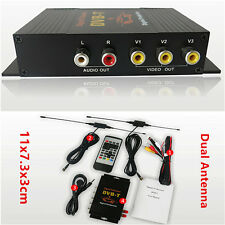 Dual Antenna Car Truck Mobile Digital HD DVBT Mpeg2 Mpeg4 TV Receiver Box Tuner