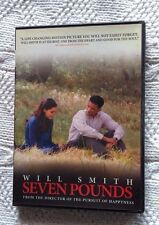 SEVEN POUNDS (DVD, ORIGINAL ) REGION- 1, LIKE NEW, FREE POSTAGE IN AUSTRALIA