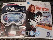 Shaun White Snowboarding: Road Trip & World Stage Nintendo Wii Game Bundle Lot