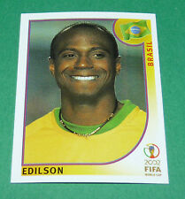 N°186 EDILSON BRASIL BRESIL PANINI FOOTBALL JAPAN KOREA 2002 COUPE MONDE FIFA