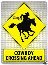 Cowboy gift Metal sign rodeo ranch farm bull riding funny boys kids room art 425