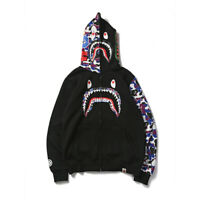 JAPAN Bape A Bathing Sweats HOODIE BAPE Sweater Coat Ape Men's Shark Head Jacket
