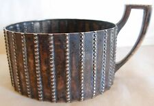 """1920s  AUSTRIA , 800 SILVER WIDE CUP / GLASS HOLDER -  98 grams -   BY """"RO"""""""