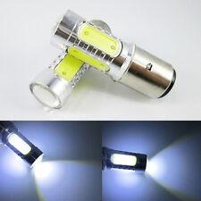 For Motorcycle Bike Moped ATV Headlight 12V BA20D H6 4 COB LED White Bulb Light