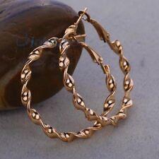 Women's Wedding Jewelry 9K Yollow Gold Filled Hoop Earrings-60mm Dia