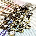 UPICK Vintage Bronze Retro Pocket Necklace Pendant Girl Lady Watch Quartz A1456