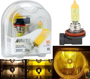 Nokya 2500K Yellow H8 Nok7623 35W Two Bulbs Fog Light Replacement Plug Play Lamp