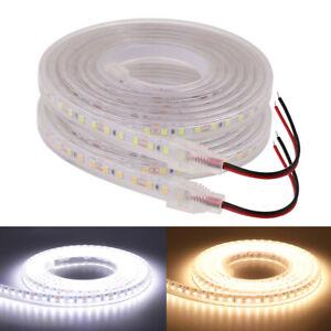 1m 20m 12V 24V 2835 LED Strip Flexible Rope IP68 Waterproof Lamp Outdoor Lights