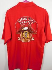 Vtg NWT Deadstock Harley Davidson Red Polo Shirt Men's XL Akron Ohio Chapter