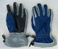 Dakine Ski Snow Winter Gloves Grey Blue Fleece Lined Size Small S