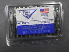 Balax Inc #54055 1/4-28 BH5 STR FL CI Thredshaver Cutting Taps M42 Series BX600